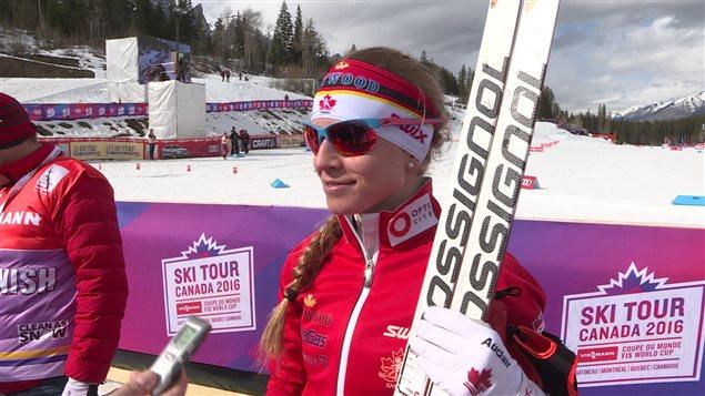 La fondeuse Cendrine Browne au Tour de ski du Canada.
