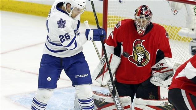 Craig Anderson a résisté à tous les assauts des Leafs