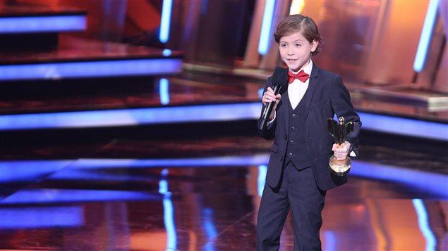 Jacob Tremblay, 9 ans, a été récompensé pour son rôle dans Room.