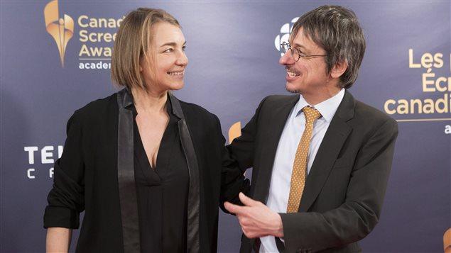 La productrice Kim McCraw (gauche) et le réalisateur Philippe Falardeau (droite)
