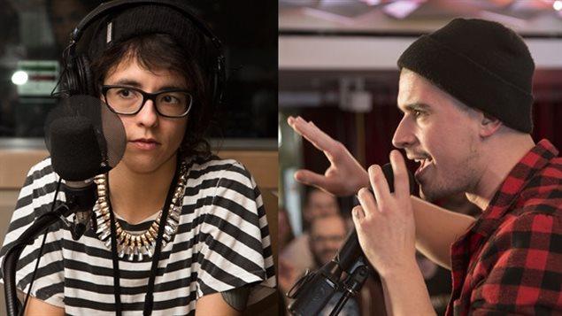 Véronique Grenier et Koriass, les porte-paroles de la campagne