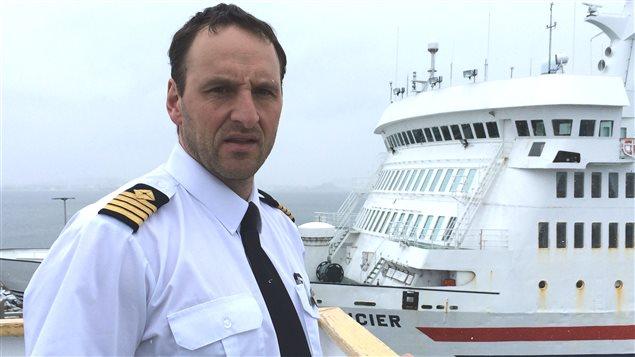 Le capitaine du CTMA Voyageur, Steve Leblanc