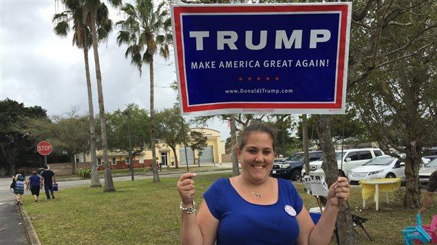 Yamilee Palomino, une Cubaine-américaine qui votera Donald Trump.