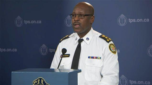 Le chef de police de Toronto, Mark Saunders