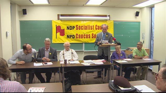 Point de presse du caucus socialiste du NPD