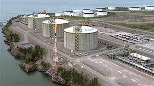 Le terminal Canaport LNG à Saint-Jean, au Nouveau-Brunswick
