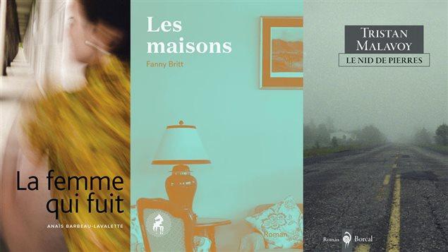 Un montage des trois couvertures des livres en lice pour le Prix France-Québec 2016