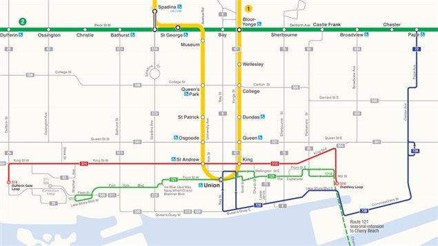 Une carte des lignes que la CTT désire ajouter ou ajuster à partir du 19 juin 2016