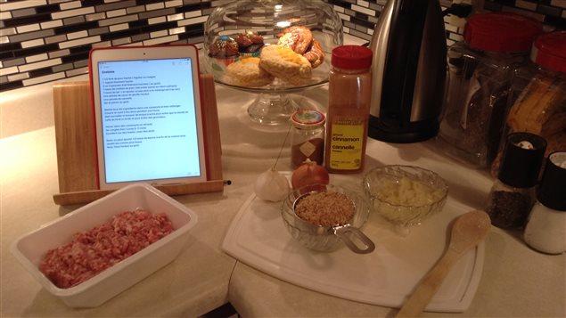 Les ingrédients pour la recette de cretons