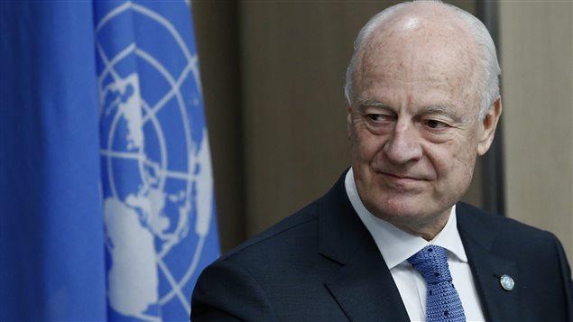 L'envoyé spécial des Nations unies pour la Syrie, Staffan de Mistura