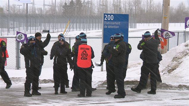 Manifestation des agents en services correctionnels à Rimouski