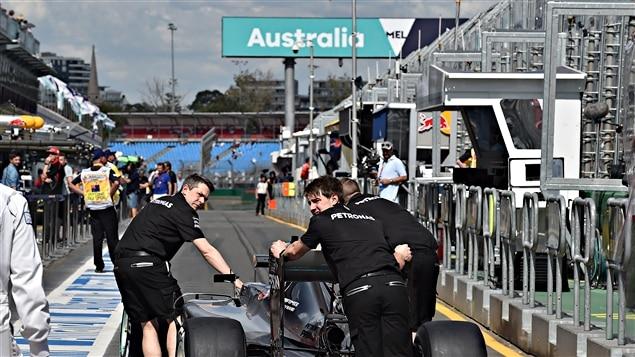 Les puits du Grand Prix d'Australie
