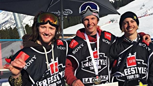 Alex Bellemare (à droite) à La Clusaz