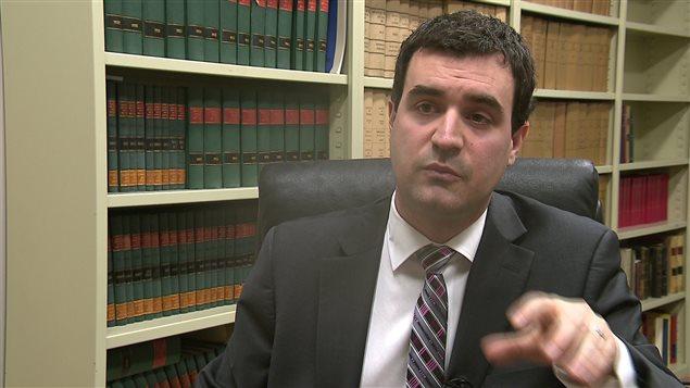 L'avocat Philippe Thibault, d'avocats BSL, représente quatre sous-traitants qui poursuivent Enerkem pour plus de 800 000 $.