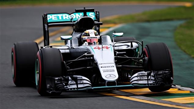 Lewis Hamilton à Melbourne