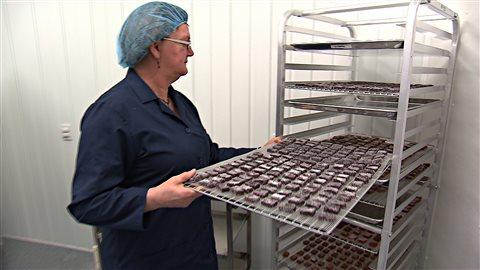 Confiseries réalisées à partir de petits fruits par la Coopérative Bioproduits.