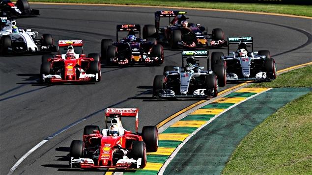 Le départ du GP d'Australie