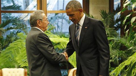 Raul Castro reçoit Barack Obama à Cuba