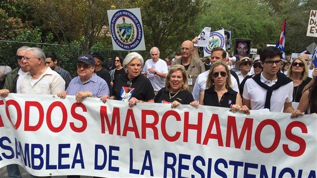 Une manifestation à Miami.
