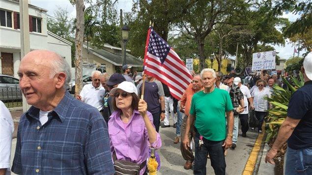 Manifestation de Cubains-Américains à Miami.