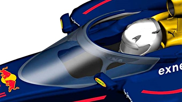 Le prototype du dispositif de protection de l'habitacle Halo proposé par Red Bull