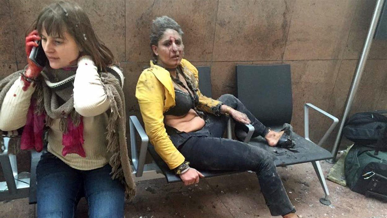 Deux blessées à l'aéroport de Bruxelles