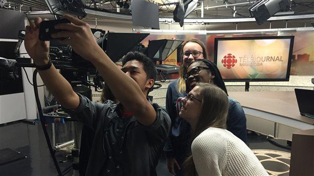 Les participants de Jeun'Info au Manitoba en 2016