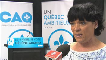 Hélène Girard, candidate de la Coalition avenir Québec