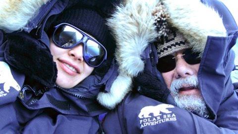 David Suzuki et sa fille Sarika, océanologue