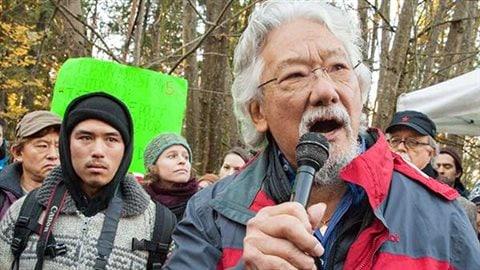 David Suzuki et son petit-fils Tamo Campos, de plus en plus impliqué dans les luttes environnementales