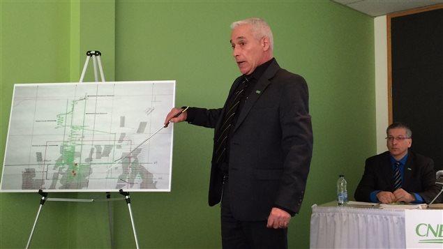 L'inspecteur Sylvain Ferrante de la Commission des normes, de l'équité de la santé et de la sécurité du travail (CNESST)