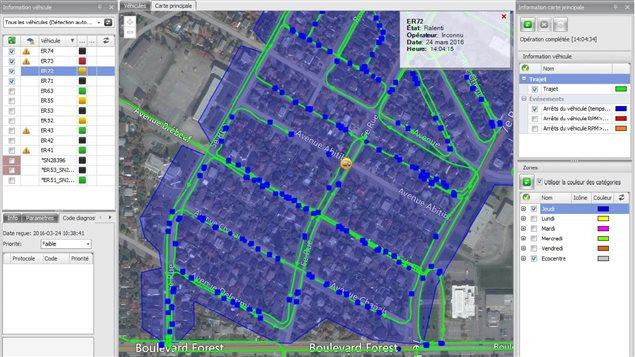 Le système de télémétrie Isaac permet à la MRC de la Vallée-de-l'Or de suivre ses camions de collecte de matières résiduelles en temps réel