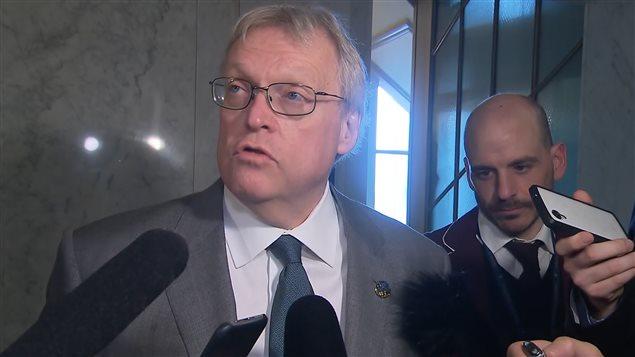 Le ministre de la Santé du Québec, Gaétan Barrette.
