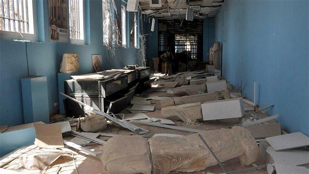 Le musée de Palmyre a été lourdemment endommagé.