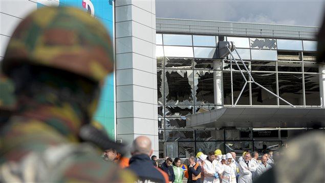 L'aéroport de Bruxelles après les attentats