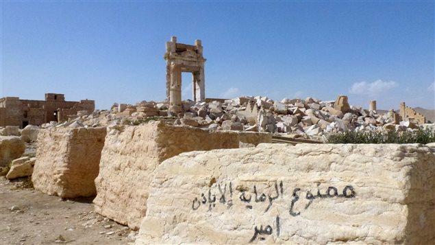 Le temple de Bêl détruit et vandalisé par des djihadistes de l'EI.
