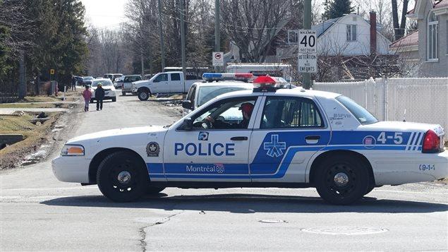 Vaste opération policière en cours dans l'ouest de Montréal