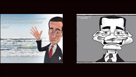 Caricatures en lmémoire de Jean Lapierre
