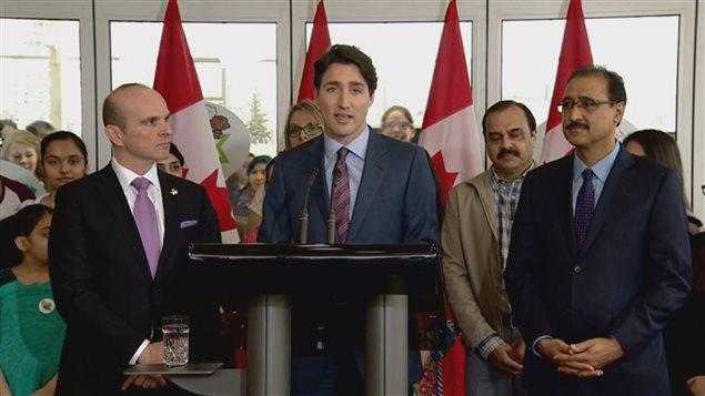 Le premier ministre Justin Trudeau a rendu hommage à Jean Lapierre en conférence de presse mercredi après-midi.