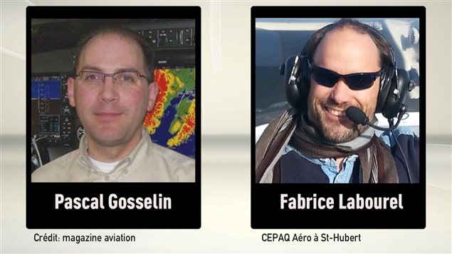 Le pilote Pascal Gosselin et l'instructeur Fabrice Labourel