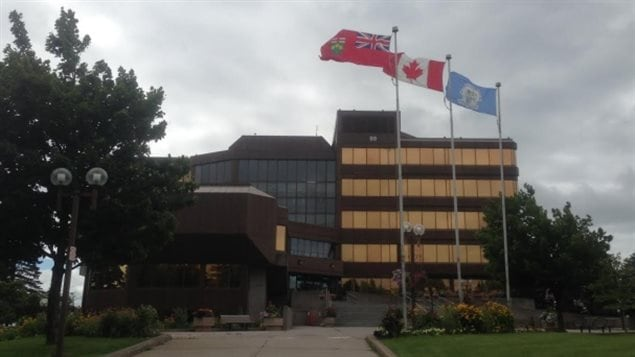 L'Hôtel de ville de Sault-Sainte-Marie.