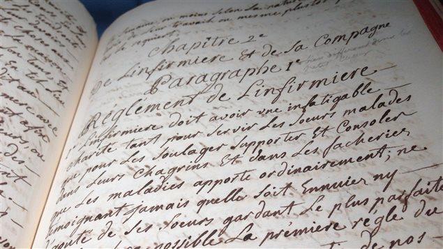 Les règlements des religieuses hospitalières qui datent de 1768.