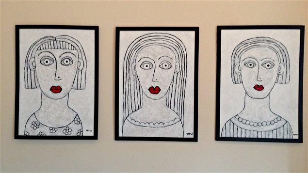 Des oeuvres de Sara Erenthal.