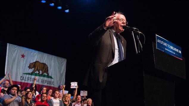 Bernie Sanders, lors d'un discours prononcé au Wiltern Theater de Los Angeles le 23 mars.