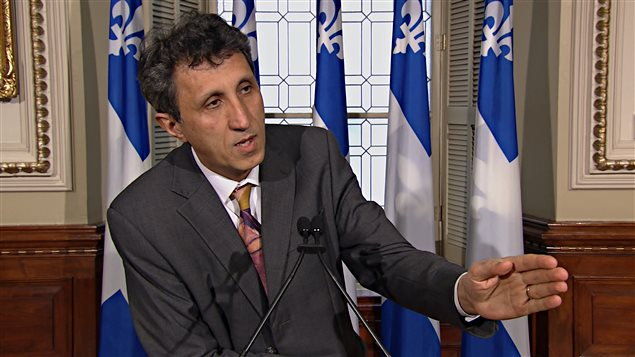Le député de Québec solidaire Amir Khadir