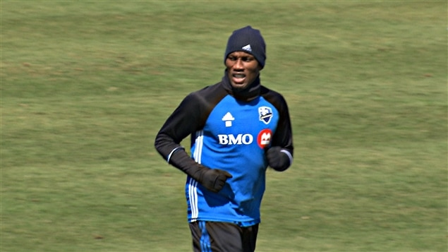 Didier Drogba à l'entraînement