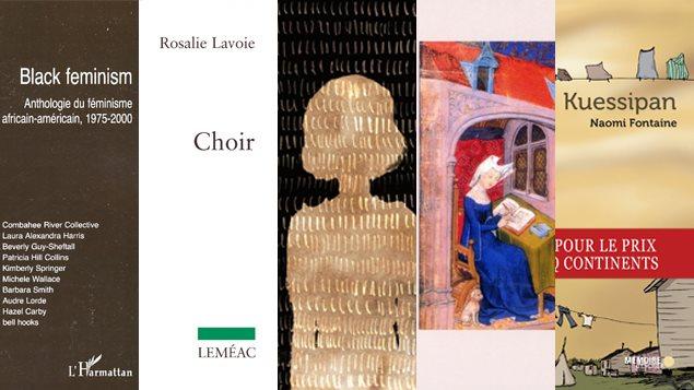 Montage des couvertures des livres proposés par els librairies de l'Euguélionne