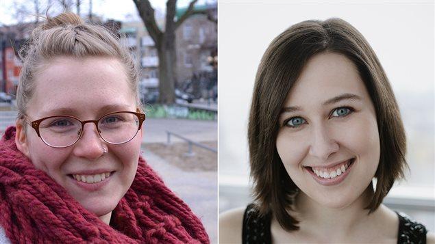 Catherine Pelletier-Voyer (à gauche) et Laurie Desjardins-Dufresne (à droite)