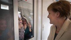 Angela Merkel visite un camp de réfugiés en Turquie