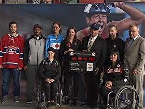 Les athlètes paralympiques de Rio 2016 en visite au Défi sportif